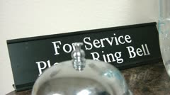 Ring Bell for Service Stock Footage