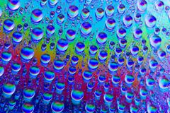 multicolored drops of water - stock illustration