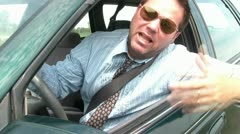 Road Rage Businessman Angry - stock footage