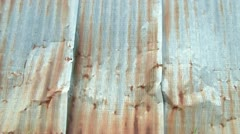 Rusty Metal Siding Stock Footage