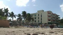 Hotel los Delfines, beach Stock Footage