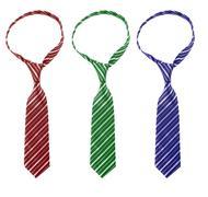 Stock Photo of three multi-colored tie