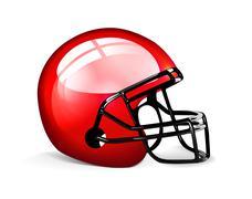 Red football helmet Stock Illustration