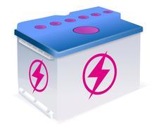 car battery - stock illustration