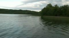 Scenic Lake Sunset Pan Stock Footage