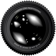 camera lens vector illustration - stock illustration