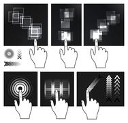 Touch screen gesture, interface Stock Illustration