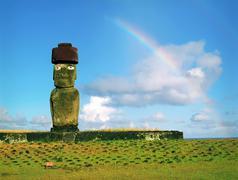 easter island - stock photo