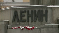 Monument to Lenin Stock Footage