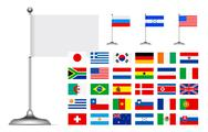 Flag set Is Stock Illustration