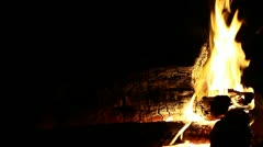 Fire Burning Off Center Right Stock Footage