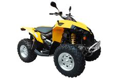 Atv isolated.jpg Stock Photos