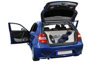 Car with power audio system.jpg Stock Photos