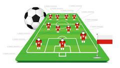 Soccer tactical kit Stock Illustration