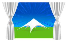 Large white tent for events Stock Illustration