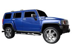 strong 4x4 suv isolated.jpg - stock photo