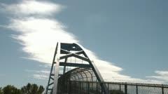 Clouds & Sky over Bridge Time-lapse Stock Footage