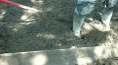 Smoothing Concrete over Rebar Stock Footage