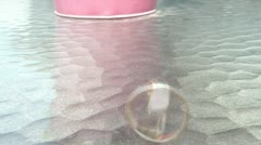 Spinning Men's Gold Wedding Ring on Glass Stock Footage