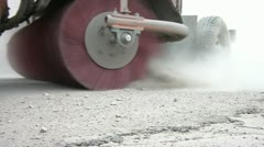 Street Sweeper Spinning Dirt Stock Footage