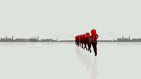 After Effects Project - Pond5 Formation urban silhouettes dancers 12614406