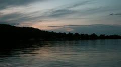 Dusk on Minnesota Lake Stock Footage