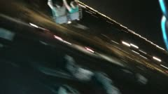 Swing Ride at County Fair Stock Footage