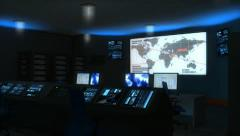 Stock Video Footage of Command center, military, space, control, unit, facility.
