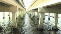 Gap between two bridges Stock Footage