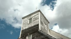 Timelapse-of-old-church-against-sky Stock Footage
