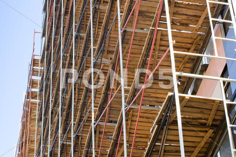 Stock photo of scaffolding