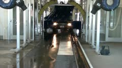 Truck-going-through-carwash Stock Footage