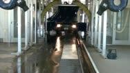 Truck-going-through-carwash Stock Footage