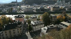 Stock Video Footage of Salzburg cityscape