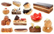 Group of cakes Stock Photos