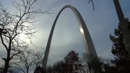 St Louis Arch 1 HD Cloudy Winter Time-lapse Stock Footage
