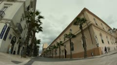 People on streets of Taranto city, Italy Stock Footage