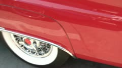 Vintage Red Convertible Car Stock Footage