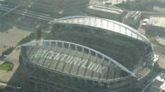 Aerial View of CenturyLink Football Field Early in the Morning Stock Footage