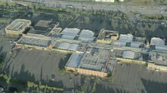 Aerial View of Large Shopping Center and Parking Lot Stock Footage