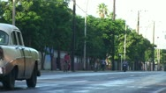Stock Video Footage of oldtimer on the street