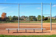 Park Bench Baseball Diamond Kuvituskuvat