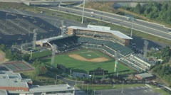 Semi-Pro Baseball Field - Aerial Stock Footage
