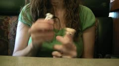 Woman Playing with Finger Puppets Stock Footage