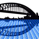 Stock Illustration of sydney harbour bridge with text illustration