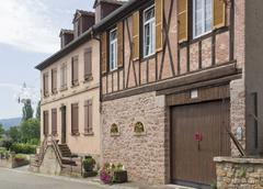 Stock Photo of house facade in mittelbergheim