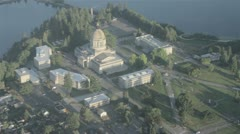 Government Buildings and Washington State Capitol Dome in Olympia, WA 4 Stock Footage