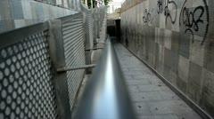 La canal en el pasillo Stock Footage
