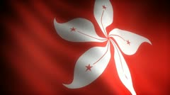 Flag of Hong-Kong - stock footage