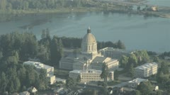 Government Buildings and Washington State Capitol Dome in Olympia, WA 3 Stock Footage